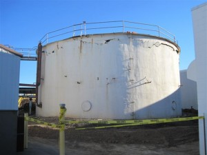 a wastewater treatment tank