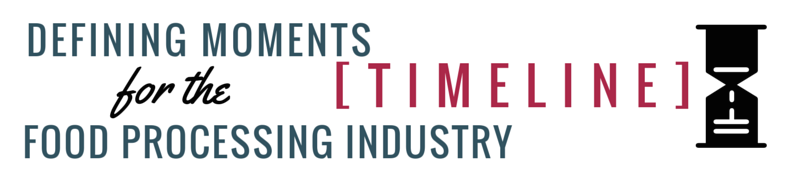 [Timeline] 9 Defining Moments for the Food Processing Industry